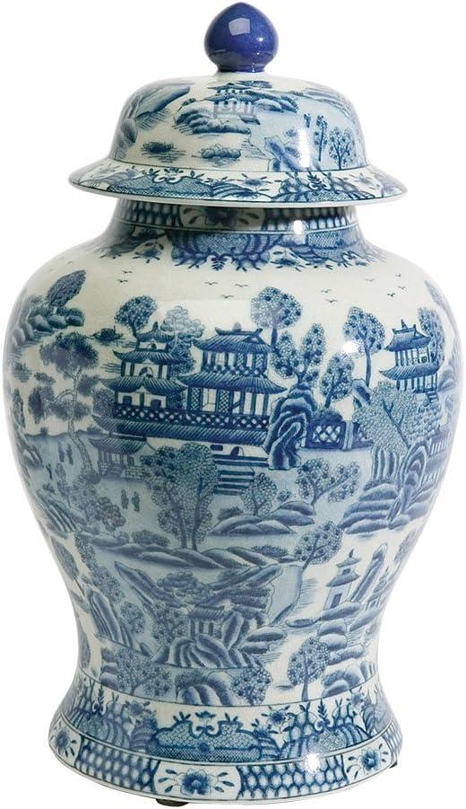 Ceramic Decorative Accent Vintage Ethan Allen Ginger Jar