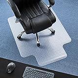 P2U 36 x 48 Polyvinyl Chloride(PVC) Lipped Chair Mat for Carpets