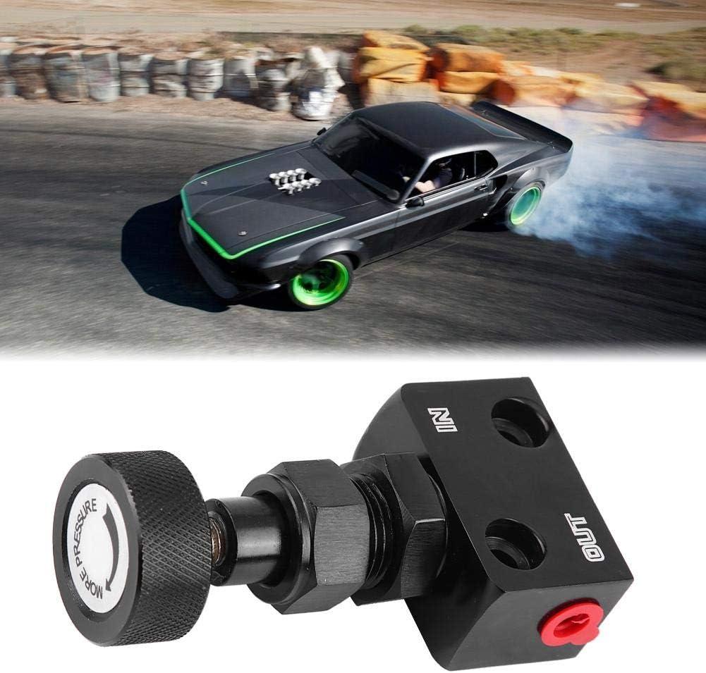 Black Universal Motorsport Brake Shut Off Valve Pressure Regulator Qiilu Car Brake Proportioning Valve
