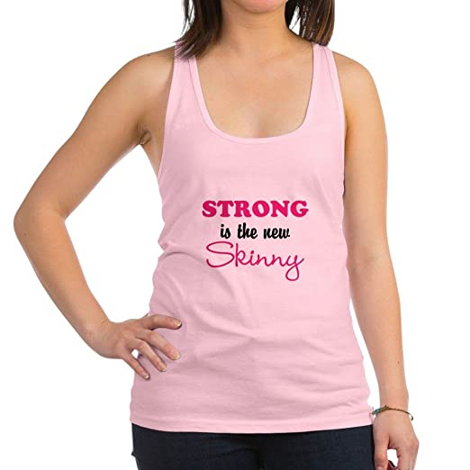 708abb95f7671 Amazon.com  CafePress - STRONG is the new Skinny Racerback Tank Top ...