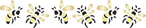 Bee Stencil, 6.5 x 1.25 inch - Insect Bug Bees Border Stencils for Painting Template