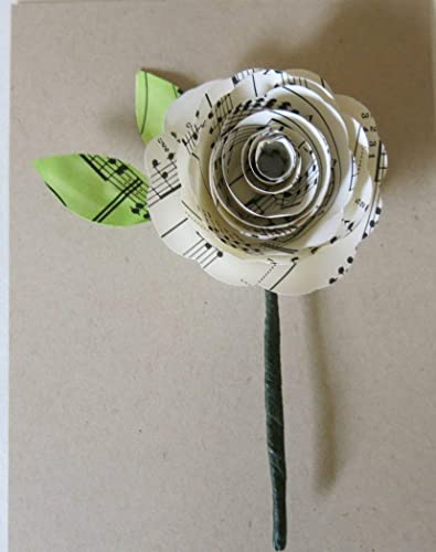 Amazon sheet music boutonniere groom buttonhole paper flower sheet music boutonniere groom buttonhole paper flower groomsman music note rose lapel pin mightylinksfo