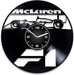 DecorStudioUA McLaren Car Vinyl Record Wall Clock Gift McLaren Clock McLaren Art McLaren Auto McLaren Gift 12 inch Clock McLaren Vinyl Clock Xmas Gift McLaren Wall Clock Vintage Car Clock Gift For Man