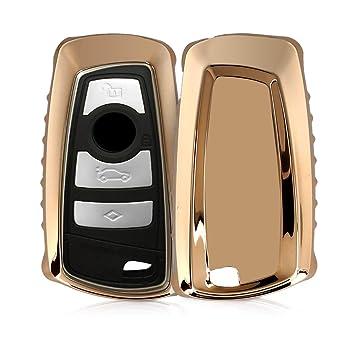 kwmobile Funda para llave con control remoto de 3 botones para coche BMW (solamente Keyless Go) - Carcasa suave de TPU para llaves - Cover de mando y ...