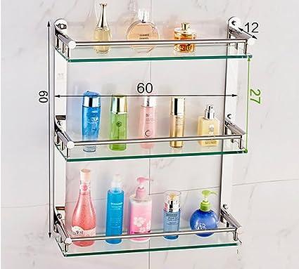 Cuarto de baño Estantes Baño de cristal estanterías, 304 de acero ...