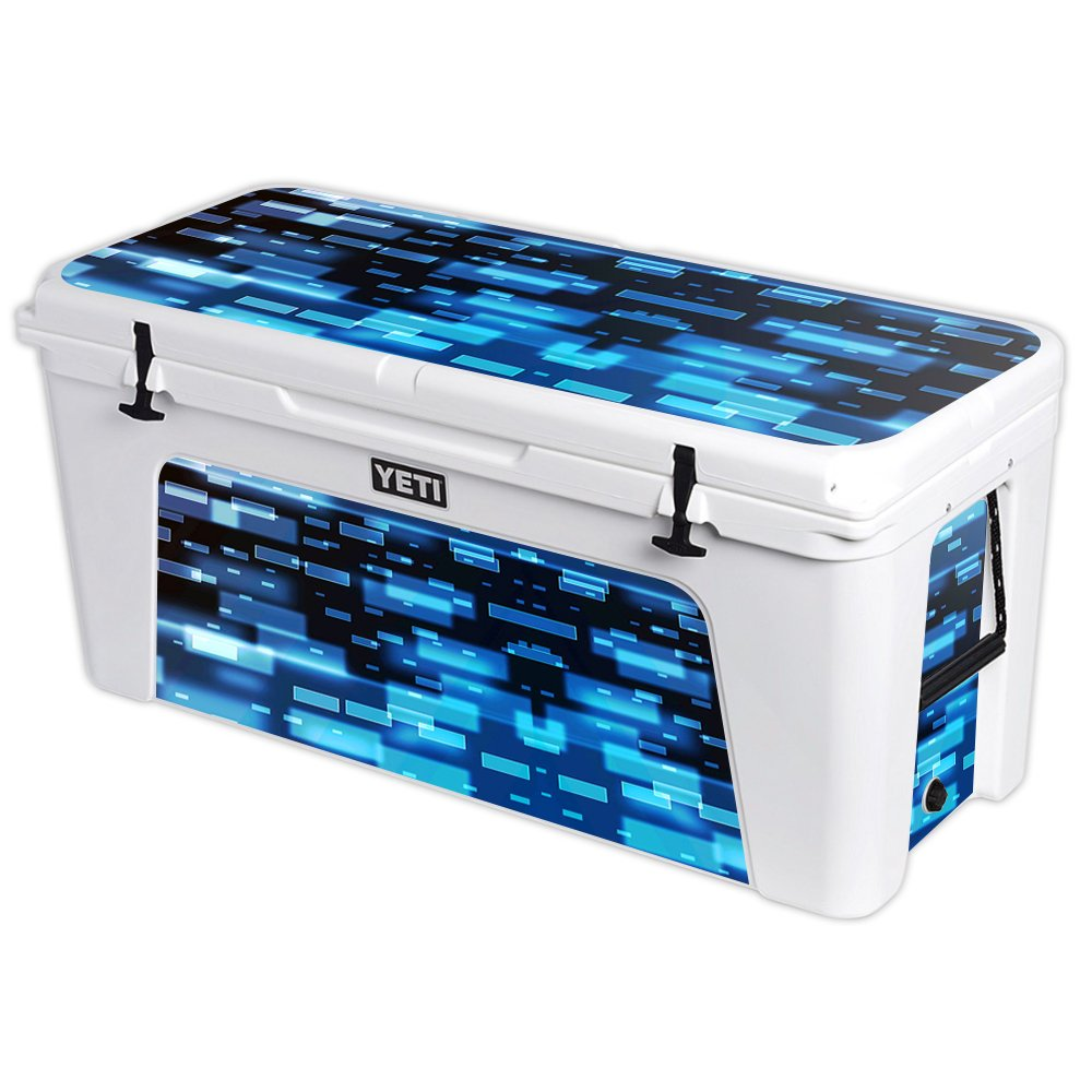 MightySkins Protective Vinyl Skin Decal for YETI Tundra 160 qt Cooler wrap Cover Sticker Skins Space Blocks