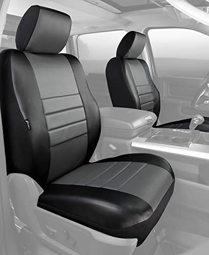 Leatherette Fia SL68-30 Gray Custom Fit Front Seat Cover Split Seat 40//20//40 Black w//Gray Center Panel