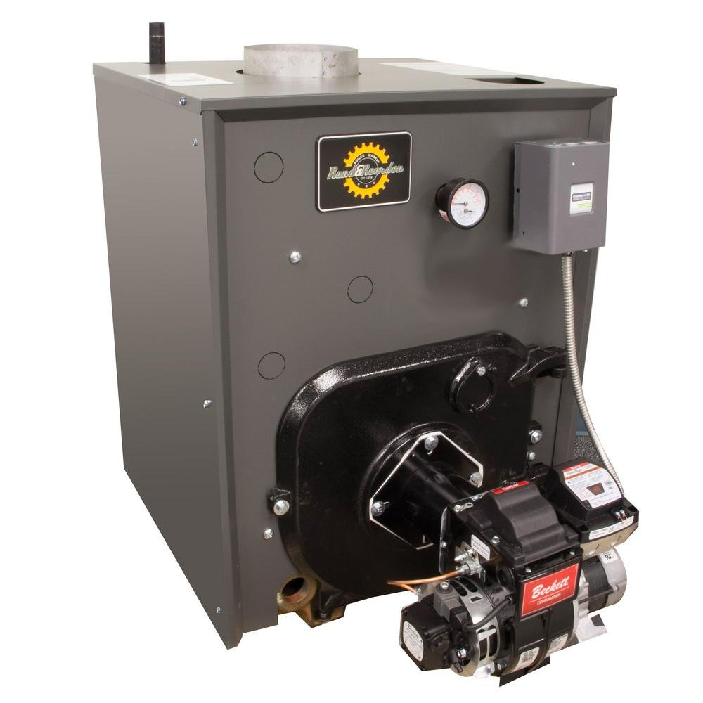 Rand & Reardon RRO Series 84% AFUE Oil Water Boiler with Coil and 131,000-156,000 BTU Output