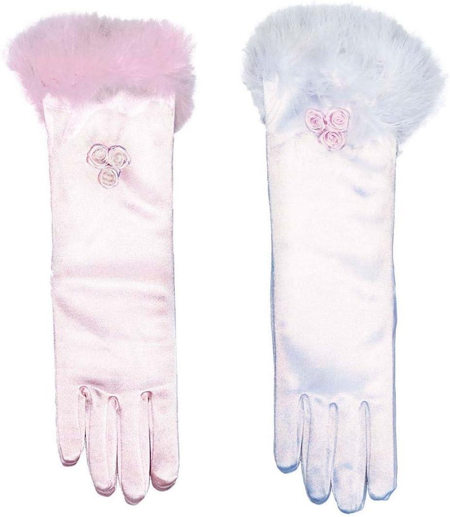 NET TOYS Prinzessin Kinder Handschuhe Kinderhandschuhe K/önigin Hand Schuhe Fasching Karneval Weiss