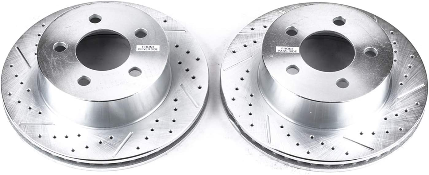 Power Stop AR8745XPR Front Evolution Drilled /& Slotted Rotor Pair