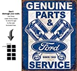 Shop72 - Tin Sign Ford Service - Pistons Vintage Tin Sign Retro Metal Sign