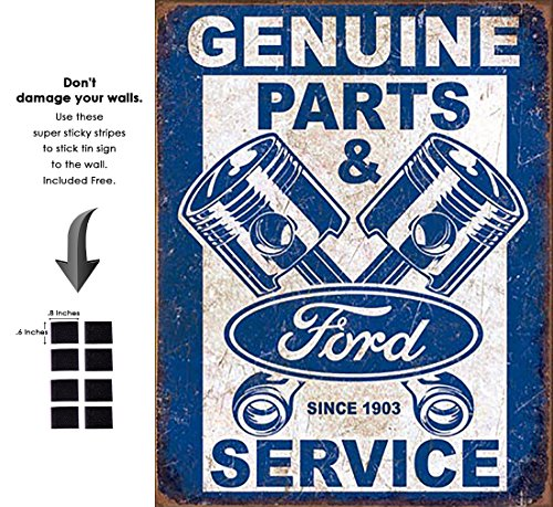 rd Service - Pistons Vintage Tin Sign Retro Metal Sign (Ford Tin)