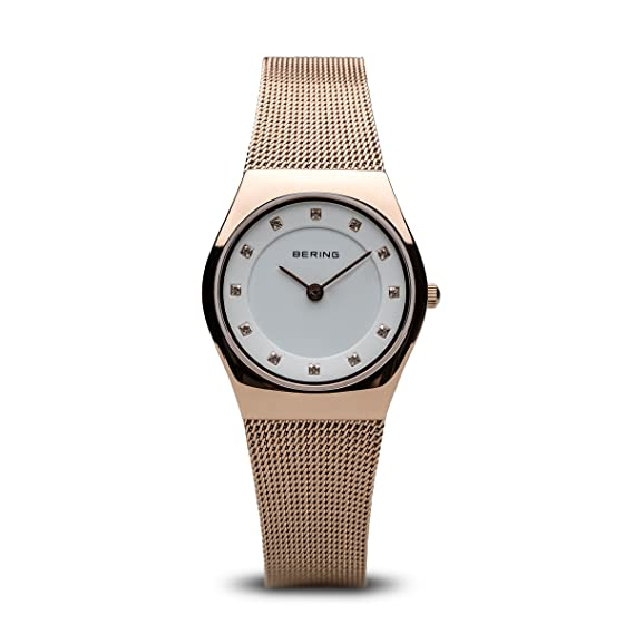 ... BERING Time 11927-366 Womens Classic Collection Watch with Mesh Band and Scratch Resistant Sapphire Crystal. Designed in Denmark.: Bering: Watches