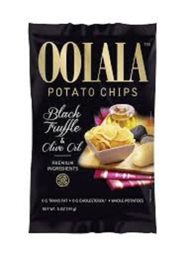Natural Nectar Oolala Black Truffle and Olive Oil Potato Chips, 5 Ounce (Pack of 9)