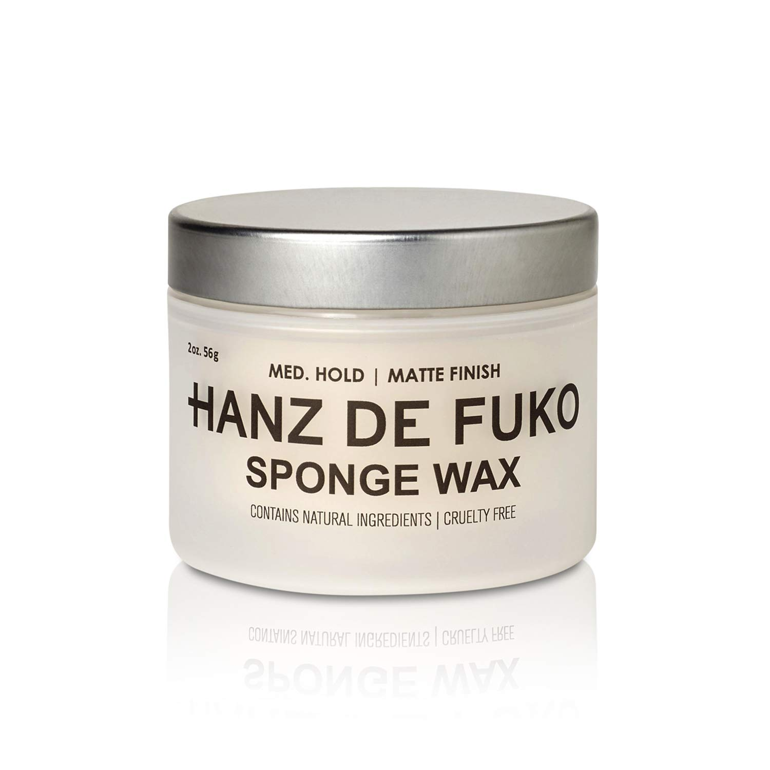 Hanz de Fuko Sponge-Wax: Premium Men's Hair Styling Wax with Semi-Matte Finish (2oz)
