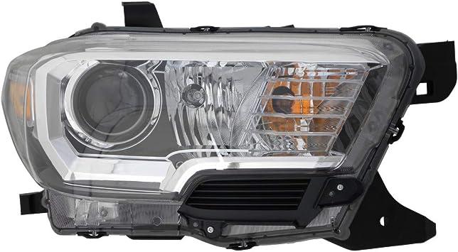 DRIVER /& PASSENGER SIDE FOG LIGHT BEZELS BLACK CHROME FOR 2016 2017 2018 TACOMA