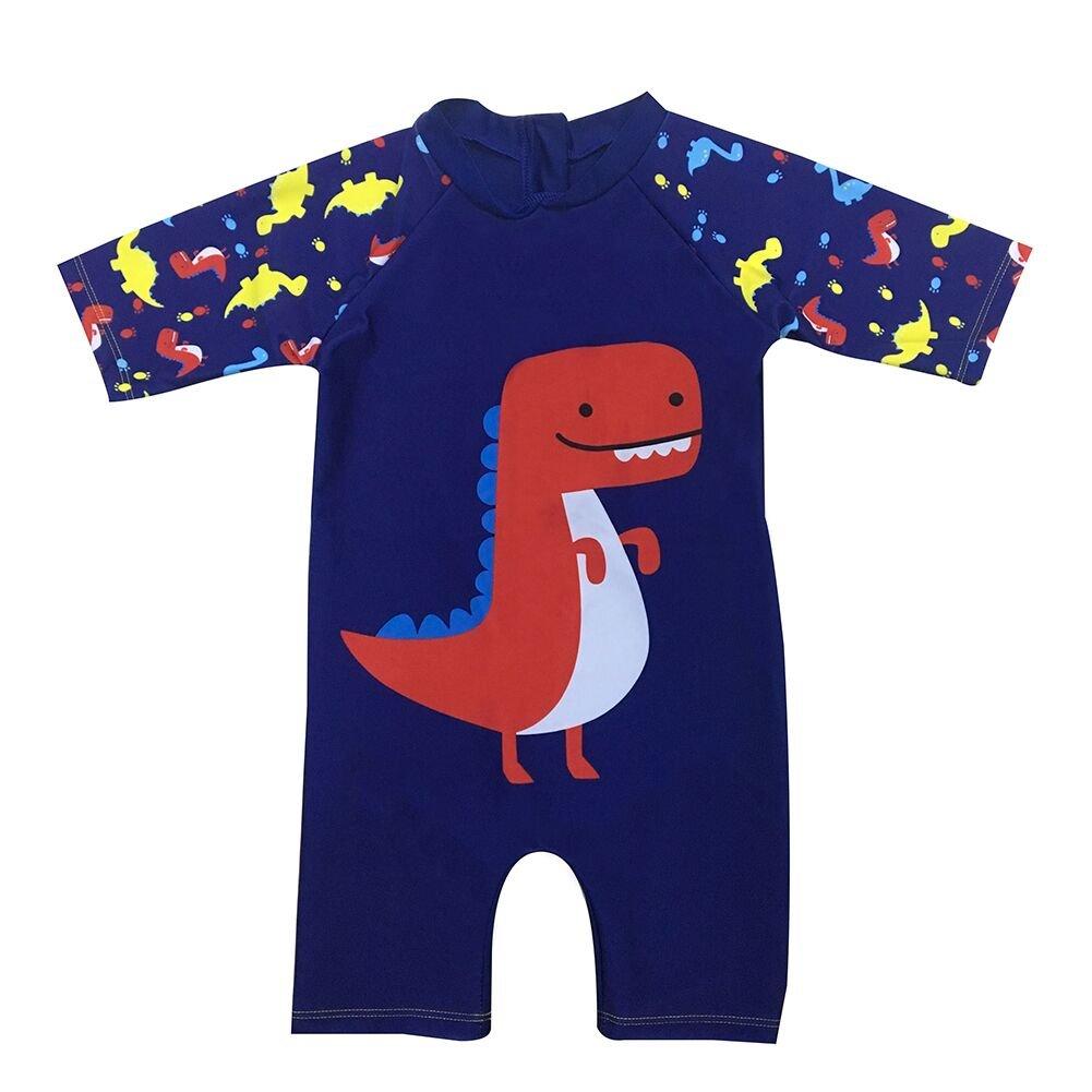 Baby Toddler Boys Dinosaur Rashs Guard Swimsuit One