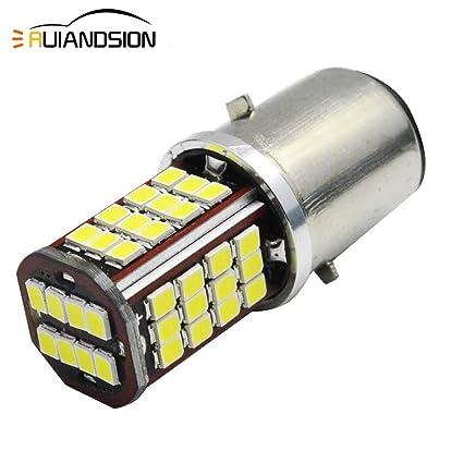 Ruiandsion 1pcs 6V BA20D Hi/Lo LED Lámpara Chipset 56SMD ...