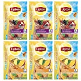 Cheap Lipton Tea & Honey Iced Green Tea Mix To Go Packets, Variety Pack 6 Pack 10 ct