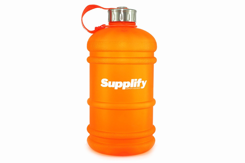 Botella de agua para deportes, entrenamiento, actividades al aire libre, sin BPA - grande, hermética, anti-goteo, botella para gimnasio, de plástico ...