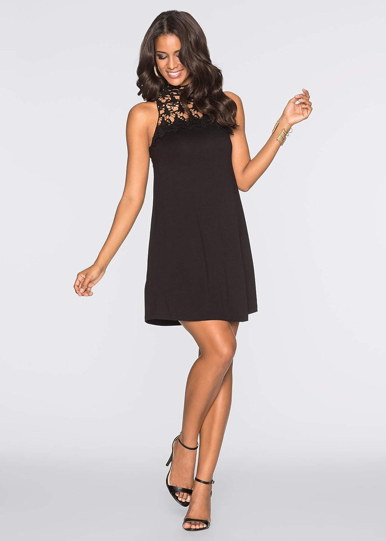 bonprix Luftiges Sommerkleid mit Spitze für Damen: Amazon.de