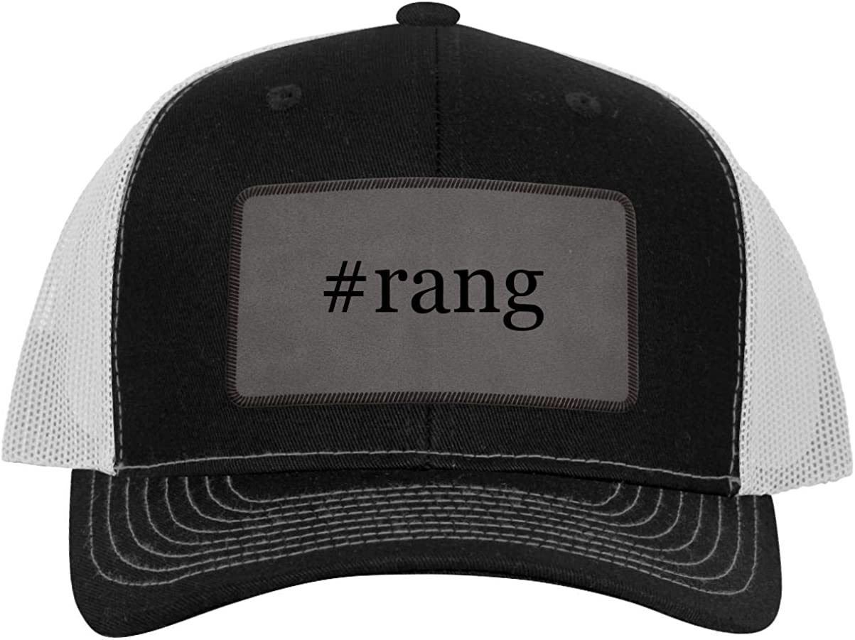 One Legging it Around #rang - Leather Hashtag Grey Patch Engraved Trucker Hat