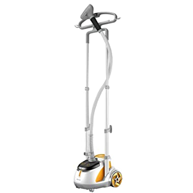 SALAV GS45-DJ Orange Professional Series Dual Bar Garment Steamer with Foot Pedals