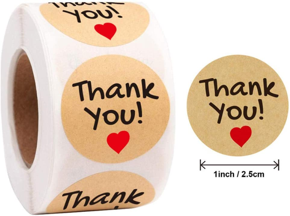 Packaging Thank You Thank You Stickers Animal seal Sticker roll Round label