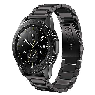 Sundaree Correa Samsung Galaxy Watch 42MM,20MM Metal Acero Inoxidable Reemplazo Correas Banda Pulseras de