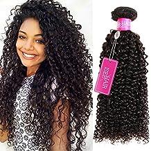 ISEE Hair 9A Grade Mongolian Kinky Curly Hair Extension Virgin Human Hair Weaving 3 Bundles Kinky Curly Virgin Hair 100% Human Hair Weaves Extension Mongolian Virgin Hair (14 16 18inches)