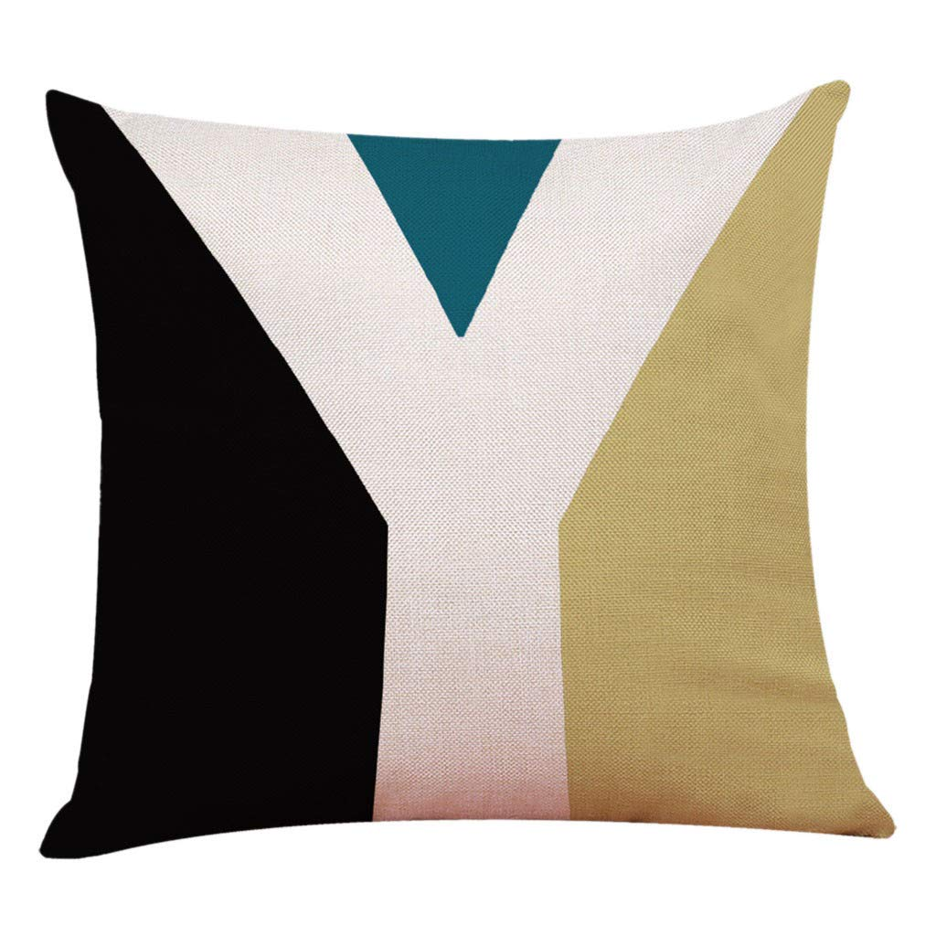 Mayunn Letter Style Linen Pillowcase Pillowcase Sofa Cushion Home Decoration Living Room Bedroom