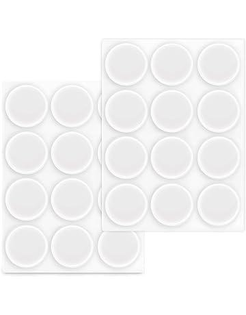 Navaris 24x topes elásticos Transparentes - Amortiguadores Adhesivos para Pared Armario Ø 22 MM - Tope