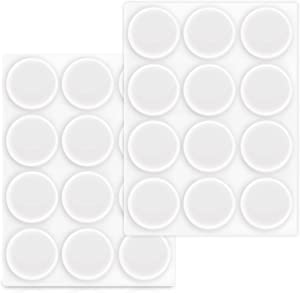 """Navaris Clear Bumper Pads 7/8"""" - Pack of 24 Self-Adhesive Soft Protective Feet Stoppers for Furniture, Cabinet Doors, Cupboards, Drawers, Wall, Glass"""