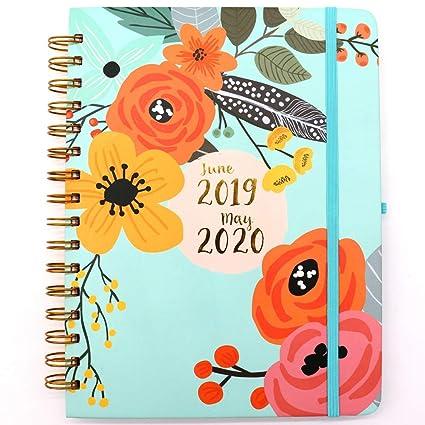 ZOORE Agenda 2019-2020 - Planner Semanal y Mensual,
