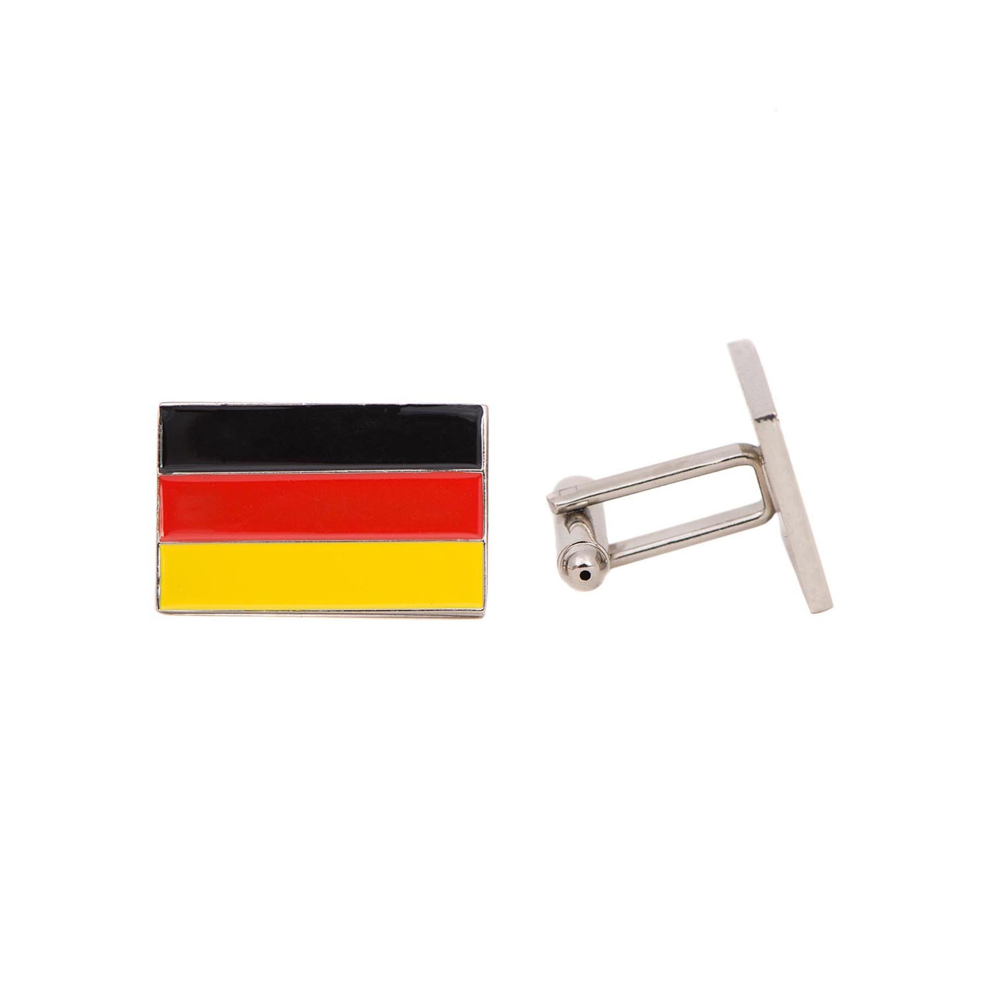 Desert Cactus Germany Rectangle Country Flag Cufflinks Formal Wear Blazer For French Cuff Shirt German