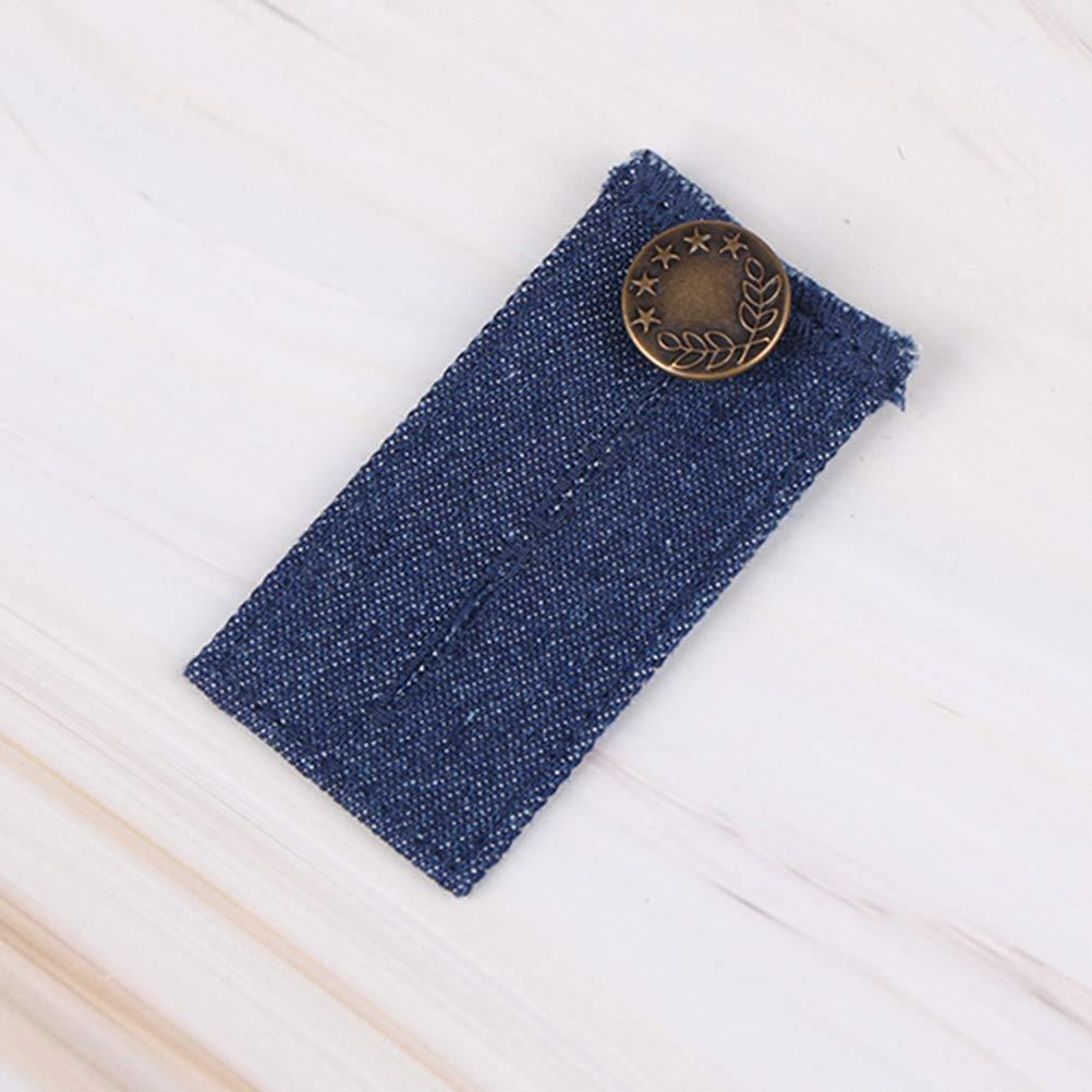 Black and Navy Artibetter 2pcs Elastic Waist Extender Jeans Button Extender Pants Waistband Expanders for Men and Women