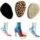 Toechmo Velvety Insole for High Heels, Gel Shoe Insoles for Women Provide Heel Pain Relief, Comfortable Heel Inserts, Plantar Fasciitis, Heel Spurs, 3/4 High Heel Pain Relief Insoles Shoe Pads