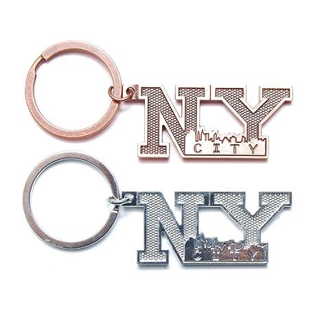 Amazon.com: Nueva York NY de Nueva York Llavero Carta de