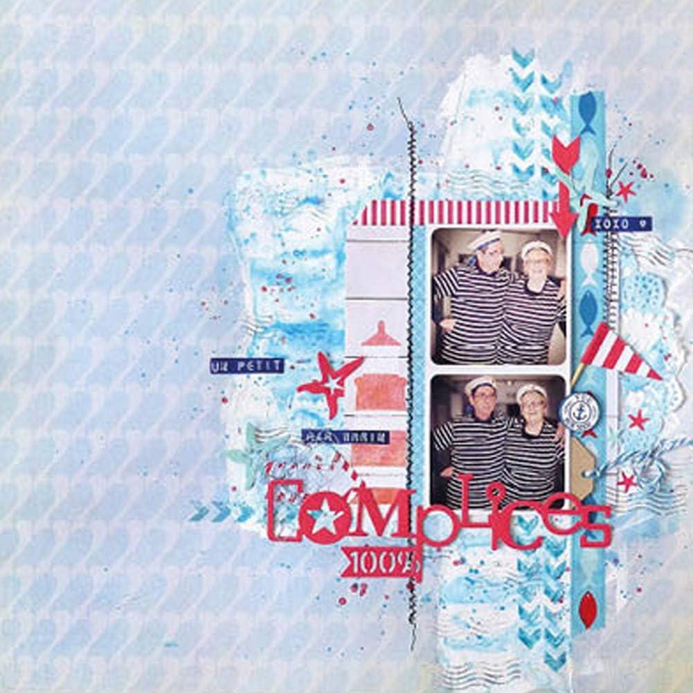 Matrices de D/écoupe en Acier au Carbone Cutting Die DIY Gaufrage Pochoirs D/écoupage pour Card Album Photo F/ête Anniversaire Mariage Automne 119.3 97.4mm Demiawaking Dies Scrapbooking