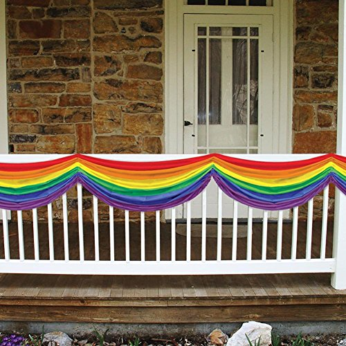 Rainbow Fabric Bunting Party Accessory