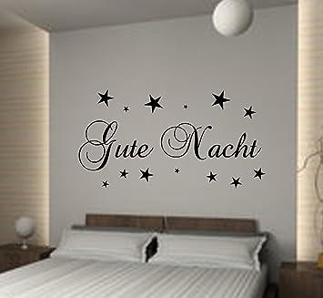 Wandschnörkel® WANDTATTOO Schlafzimmer Gute Nacht ca.60 cm x 18 cm+ ...