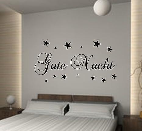 Wandschnörkel® WANDTATTOO Schlafzimmer Gute Nacht Sterne ++ ...