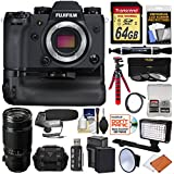 Fujifilm X-H1 Wi-Fi Digital Camera Body & Vertical Power Booster Grip + 50-140mm f/2.8 Lens + 64GB + Battery + Case + Tripod + LED/Flash + Microphone Kit