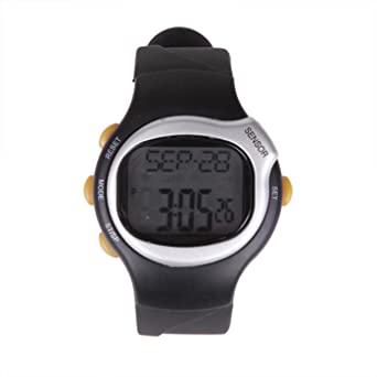 amazon com hde fitness sport pulse watch with heart rate monitor