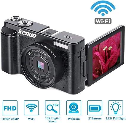FHD 1080p Video Camera MAX 24.0MP 3.0 Inch 180°Rotation Flip