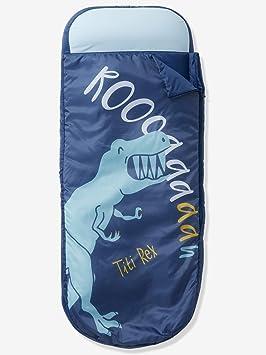 Vertbaudet Saco de Dormir Readybed® con colchón Integrado DINORAMA Azul Oscuro Liso con Motivos Unica: Amazon.es: Hogar