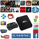 JUSHENG [Free I8 Wireless Mini keyboard] M8S Plus Android Tv Box Amlogic S812 2G+16G Emmc Quad Core (Cortex-A9) with Dual WIFI 5G/2.4G Bluetooth 4.0 Streaming Media Player