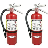Amerex B402 QWMLBB 5lb ABC Dry Chemical Class A B C Fire Extinguisher, with Wall Bracket, 2 Pack