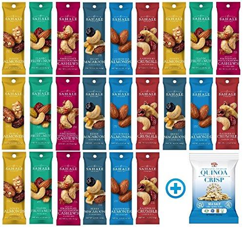 Sahale Snacks All Natural Nut Blends Grab And Go Variety Pack (1.5 oz x 24 Packs) with Quinoa Crisp Sea Salt