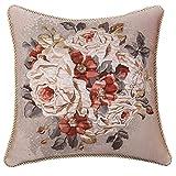 European-style pillow Feather silk cushions Jacquard hug pillowcase sofa bed-A 50x50cm(20x20inch)VersionB